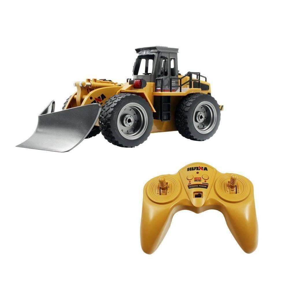 Huina 1586 6 Channel 2.4ghz Full Functional Front Loader Rc  Car Remote Control Construction Tractor With Lights Christmas Gift enlarge
