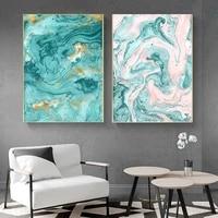 Affiches et imprimes dart abstrait de Texture de marbre bleu  peinture sur toile moderne a la mode  decor de maison  photos de salon