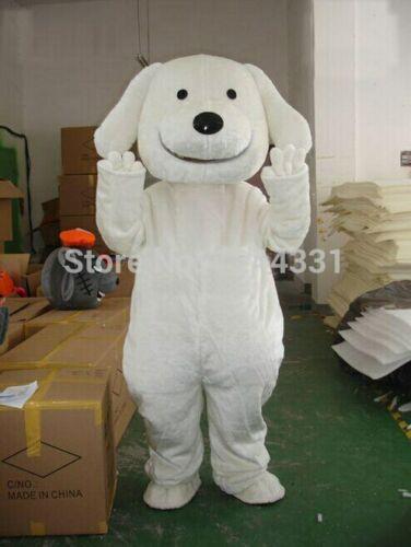 Disfraz de Mascota de perro blanco Cosplay ropa de fiesta carnaval Halloween adultos fiesta de cumpleaños Apertura de Carnaval