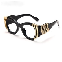 2021 Fashion Cat Eye Women Luxury Metal Decoration Sunglasses Vintage Anti-blue light Lens Eyewear M
