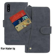 Leather Wallet Haier I4 Case 6.1