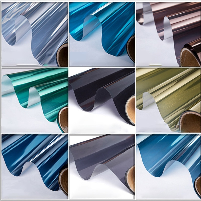 30/40/50x100Cm One Way Mirror Filme Janela adesivos, Adesivos de Vidro, vinil Auto-adesivo Refletivo Solar Privacidade filme Matiz Da Janela de Casa