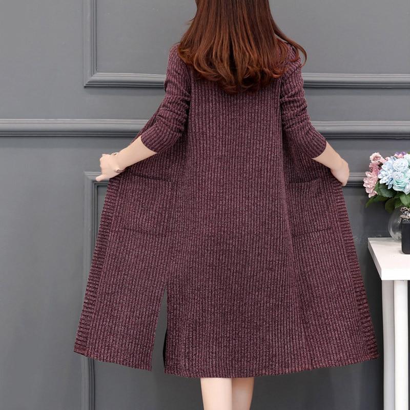 Talla grande 5XL-nueva prenda de vestir para mujer, cárdigan largo, a la...