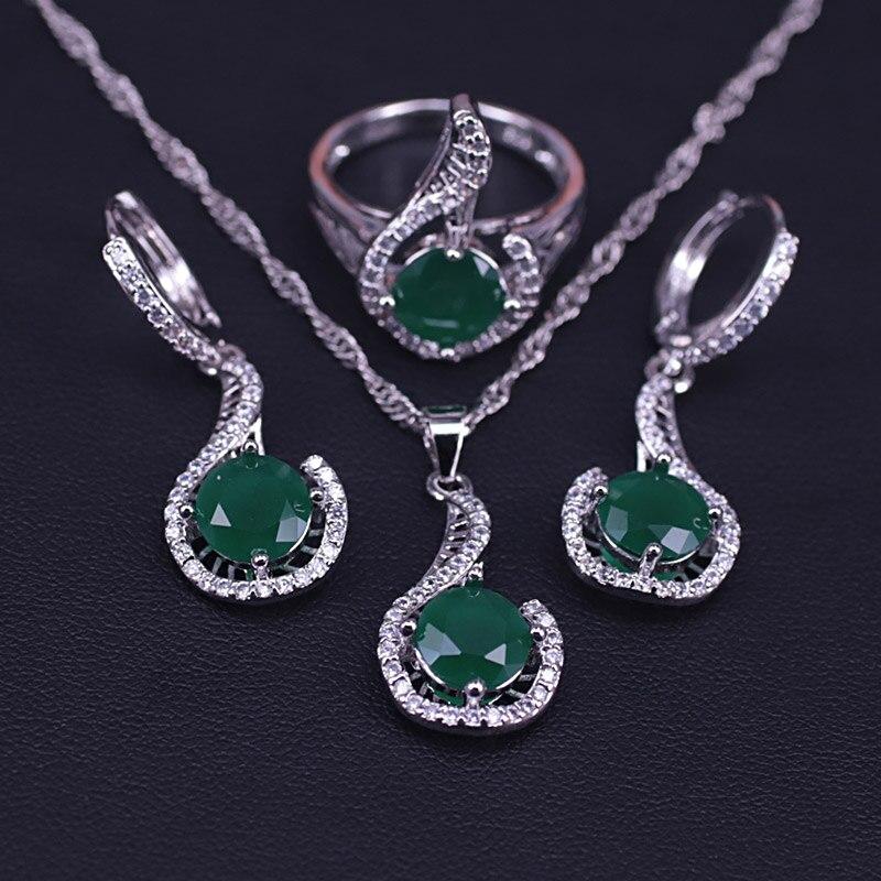 Collar con anillo y colgante, conjunto de joyería para mujer, muchos colores, color plata, cuadrado, el mejor regalo, envío rápido