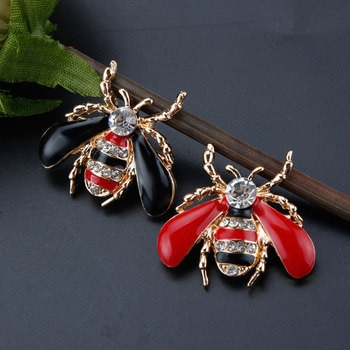 Best selling fashion simple temperament animal drop oil bee brooch