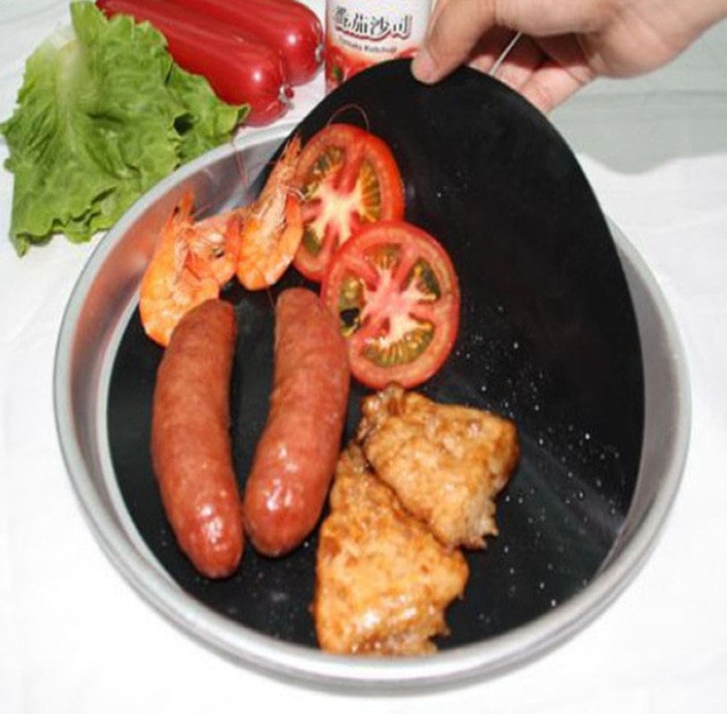 2 unids/set profesional paquete doble Pan Mat Teflon antiadherente redondo Pan Liner hoja herramienta para evitar pegar alimentos olla