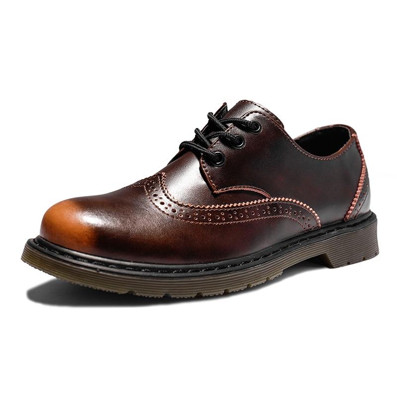 Мужские оксфорды; Кожаные модельные туфли; Обувь с перфорацией типа «броги» с вырезами и на шнуровке; Мужская повседневная обувь; Модные мок...
