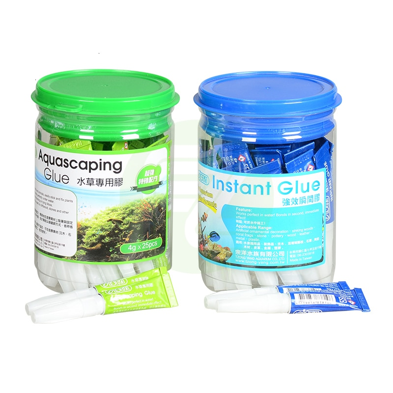 ISTA Aquarium Instant Coral Glue Moss Glue Rock Glue, can Used Under the Water