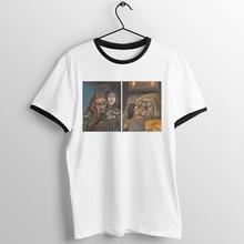Black Trim Unisex  T Shirt Meme Woman Yelling At A Cat Skyrim Khajiit Printed Tee