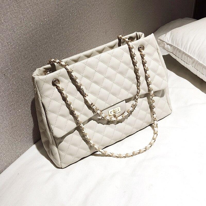 Large France Women Chain Shoulder Bag Luxury Handbags Designer Messenger Bags Crossbody Sac A Main Femme De Marque Luxe Cuir