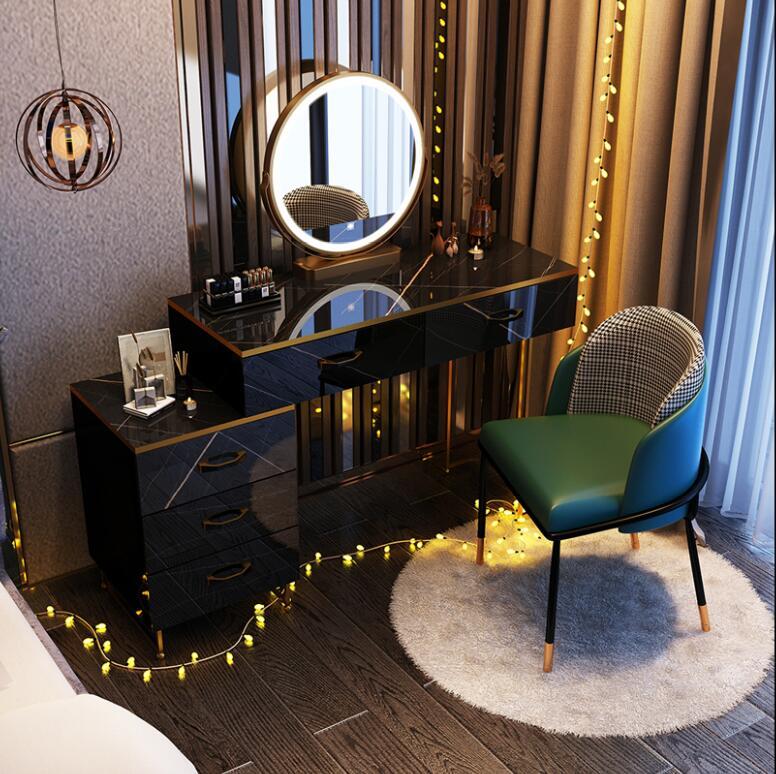 Nordic светильник класса люкс туалетный столик современный минималист хранение в спальне встроенный шкаф чистый красный ins со светодиодной ла...