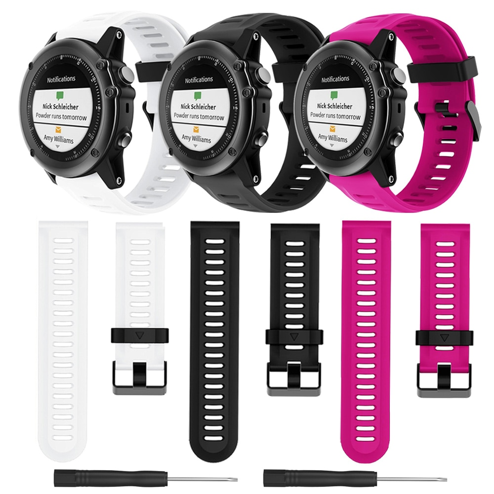 26mm Sillicone Strap For Garmin Fenix 3 Smartwatch Bracelet Wrist Replacement Band For Garmin Fenix 3 HR/Fenix 5X Accessories