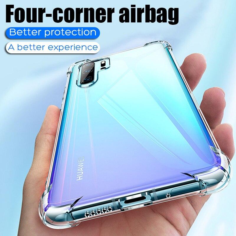 Etui de Protection Airbag Transparent pour Huawei P20 P30 Lite Pro P Smart Plus 2019 Honor 20 10 lumière 10i 20i couverture arrière antichoc