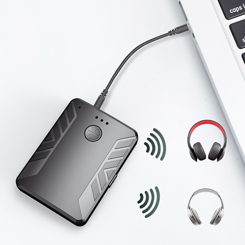 T19 Bluetooth 5.0 o Transmitter and Receiver Call 3 in 1 TV Computer Dual Transmitter One for Two Adapter