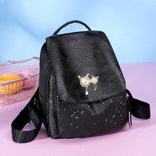 JIULIN السفر Bagpack شفافة-حقيبة الكتف أكياس في سن المراهقة-الفتيات المدرسة الأطفال بو القط الأذن
