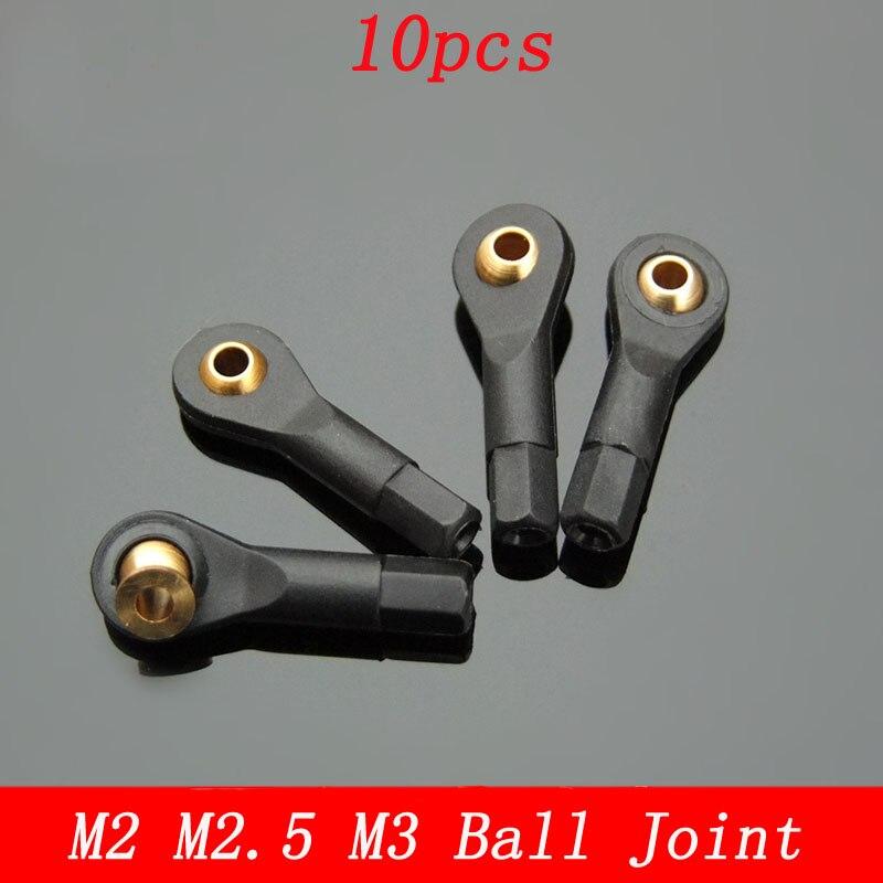 10 pçs m2 m2.5 m3 bola cabeça conjunta titular pushrod conexão gravata haste terminal conector universal para rc avião diy robô brinquedo ligação