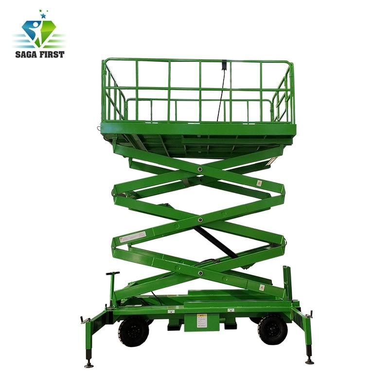 Plataforma elevadora de tijera montada en camión