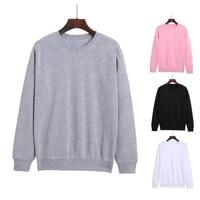 2021 autumn winter men pullover sweatshirt solid color hoodies basic long sleeve crewneck plush casual men hoodies sweatshirt