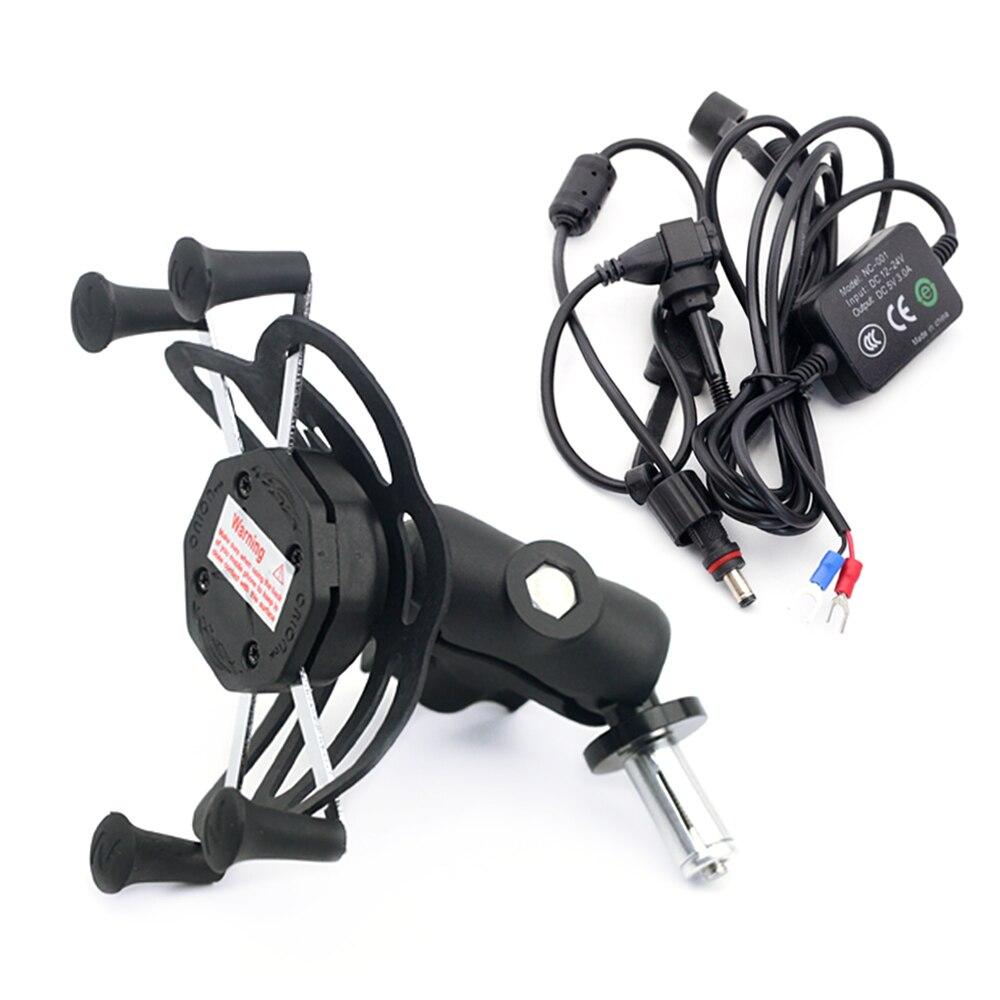 X-carregador usb para celular suzuki, gsxr600 gsxr750 gsxr1000 hayabusa gsxr 600/750/1000 motocicleta navegação gps suporte