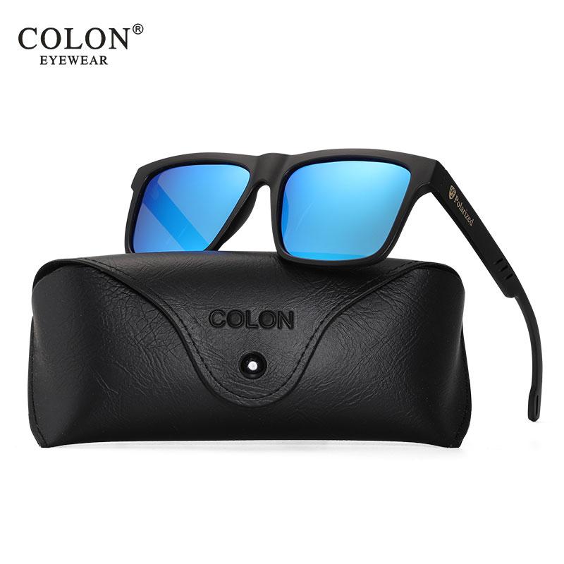 Gafas de sol polarizadas cuadradas de marca de lujo clásicas de moda para hombre y mujer UV400 Gafas de sol azules Graffiti oculos para hombre CN8029