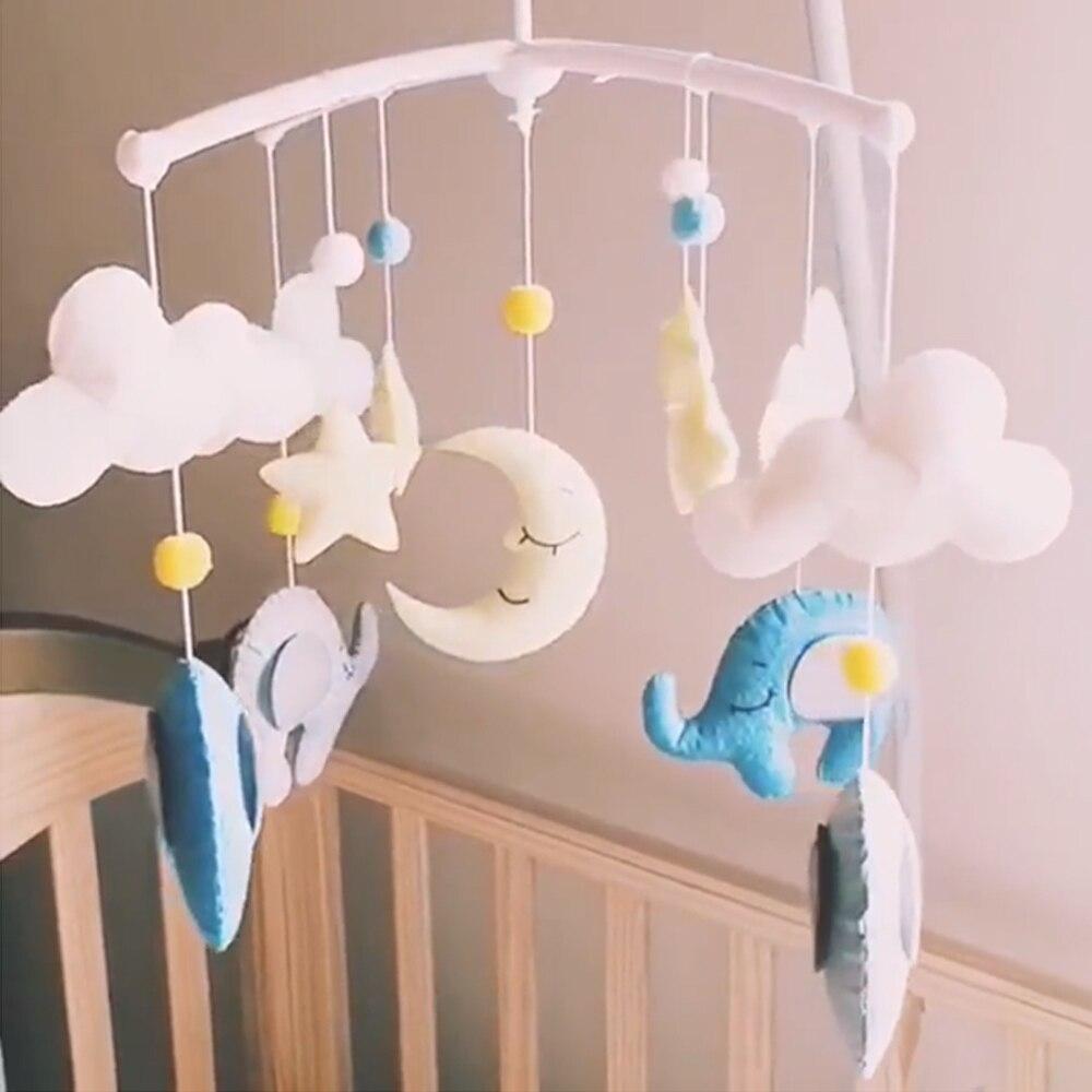 Kit de soporte para sonajeros de bebé de dibujos animados móvil de juguete para cuna hecho a mano DIY cama campana Material juguetes de paquete para niños juguetes de bebé 0-12 meses