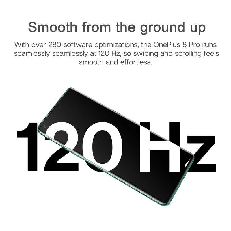 Фото1 - Глобальная версия Oneplus 8 Pro 5G Смартфон Snapdragon 865 8 ГБ 128 6,78 120 Гц жидкости Дисплей 48MP Quad OnePlus официального магазина Carter's