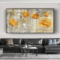 selling hand painted abstract flowers landscape oil painting on canvas wall art pictures for living room home decor free shippin