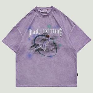 2021 Hip Hop Streetwear Oversize T-Shirts Mens Harajuku Robot Girl Letter Printed Tees Casual Cotton Loose Short Sleeve T Shirts