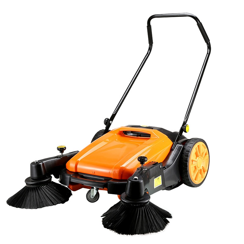 Hand Push Industrial Sweeper Without Oil, No Need for Electricity Factory Workshop, Road Property Dust Sweeper