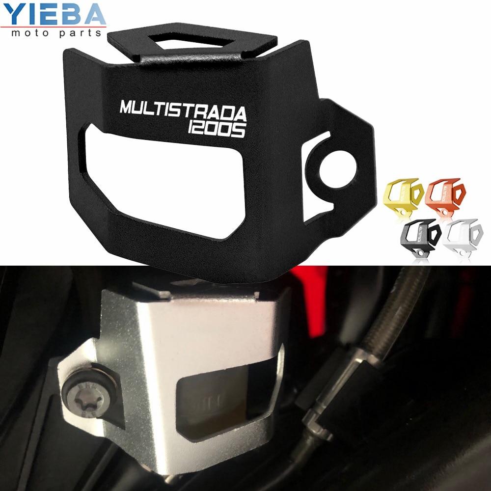 Para Ducati MTS1200 Multistrada 1200 MTS S accesorios de Motocross líquido de freno trasero derecho depósito protector tapa protectora piezas de protección