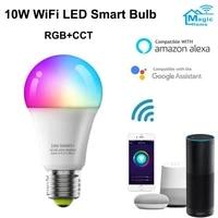 WiFi Smart Bulb RGB CCT Corlorful Dimmable 10W E27 Led Light Timer Remote Controller Lamp Magi Home Pro APP Alexa Google Home