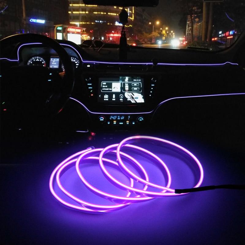 Carro tira conduzida decoração guirlanda fio corda tubo linha de néon luz para volkswagen polo golf 5 6 7 passat b5 b6 bora mk5 mk6 tiguan