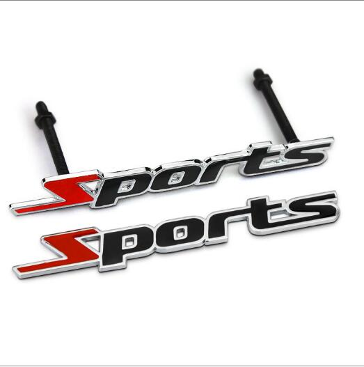 1 Металлическая Эмблема для спортивного автомобиля, Эмблема для заднего багажника, Спортивная Эмблема для гриля, Стайлинг автомобиля