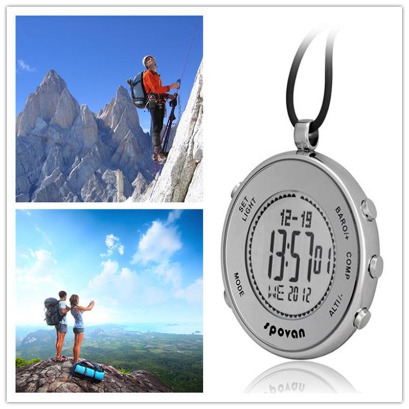 SPOVAN Mens Watches Top Brand Luxury Pocket Watch Barometer Altimeter Compass Monitor 28 World Time Digital Sport Clock Men saat enlarge