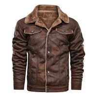jackets male collar coats stand leather motorcycle biker pu outerwear dropshipping hot new pockets vintage mens fashion vintage