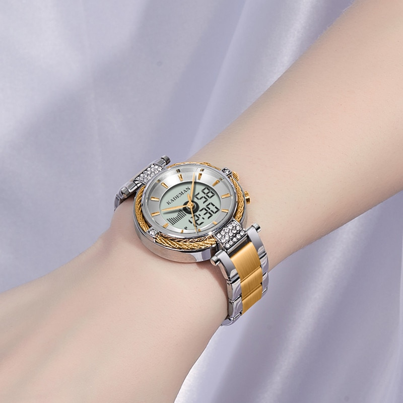 9080 Ladies Watches Digital TOP Brand Luxury LCD Business Women Watch Fashion Crystal Bracelet Female Wristwatch Girl Relogio enlarge