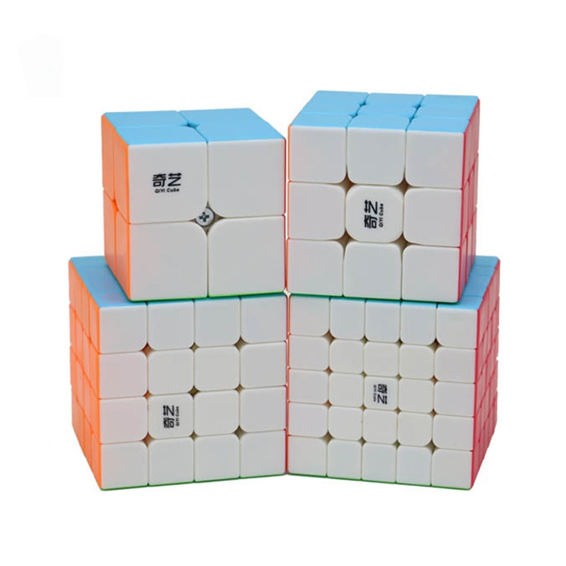 qiyi conjunto de cubos magicos de velocidade 2x2x3x3 4x4x4 5x5x5 piramide skew megamreceptor
