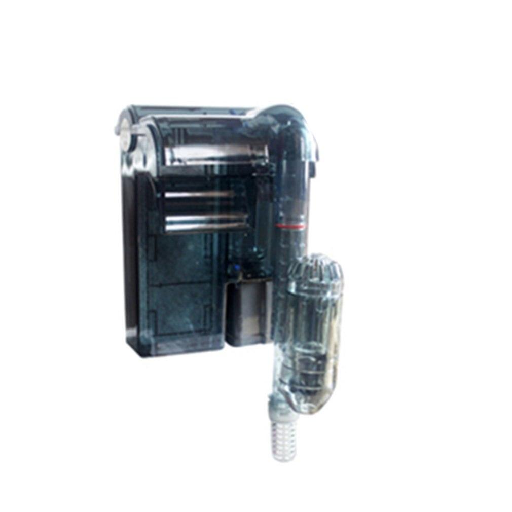 220V Filtro externo de acuario cascada caja de filtro de esponja Mini bomba de filtro de circulación de agua