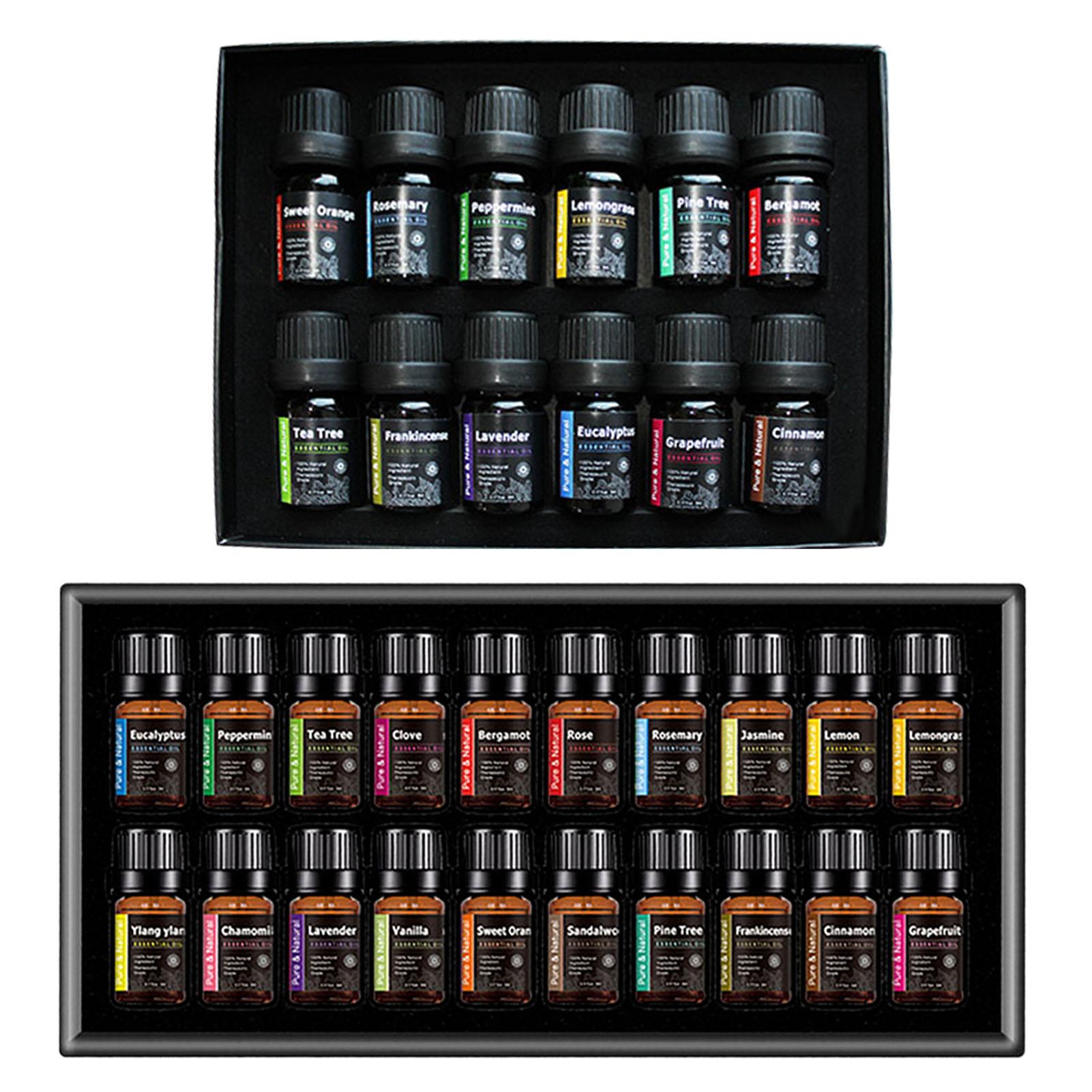 12/20pcs Aromatherapy Essential Oil Set Pure Care Essence Tea Tree Lemongrass Lavender Essential Oil