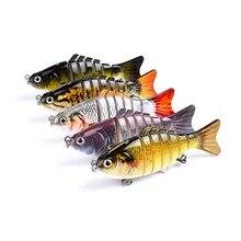 Naufrage Wobblers leurres de pêche joint manivelle appât nageur 8 segments dur appât artificiel pour matériel de pêche leurre