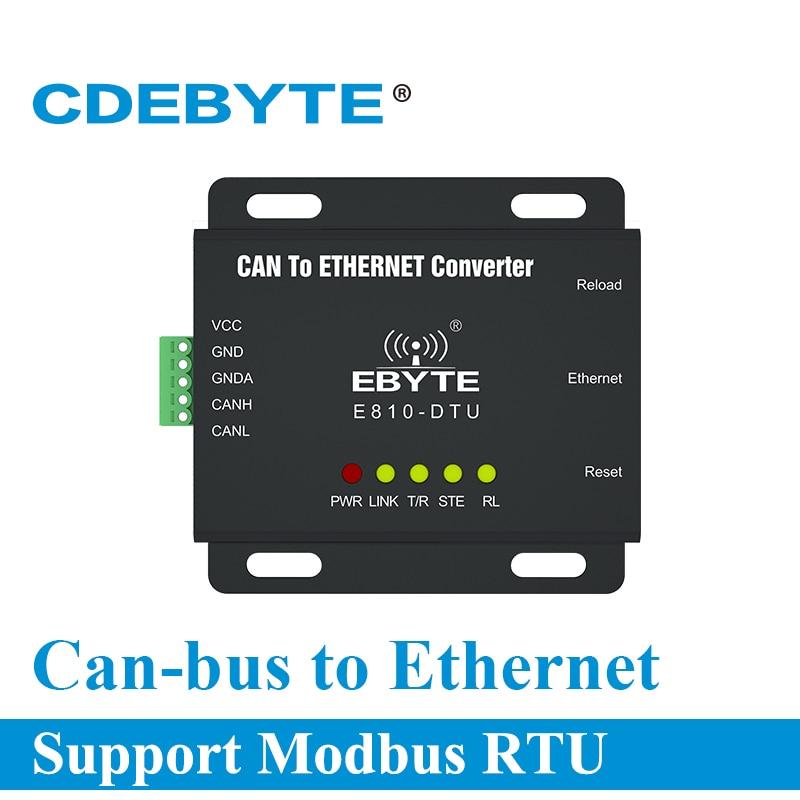 إيثرنت يمكن أن حافلة اتجاهين نقل شفاف مودم لاسلكي E810-DTU(CAN-ETH)