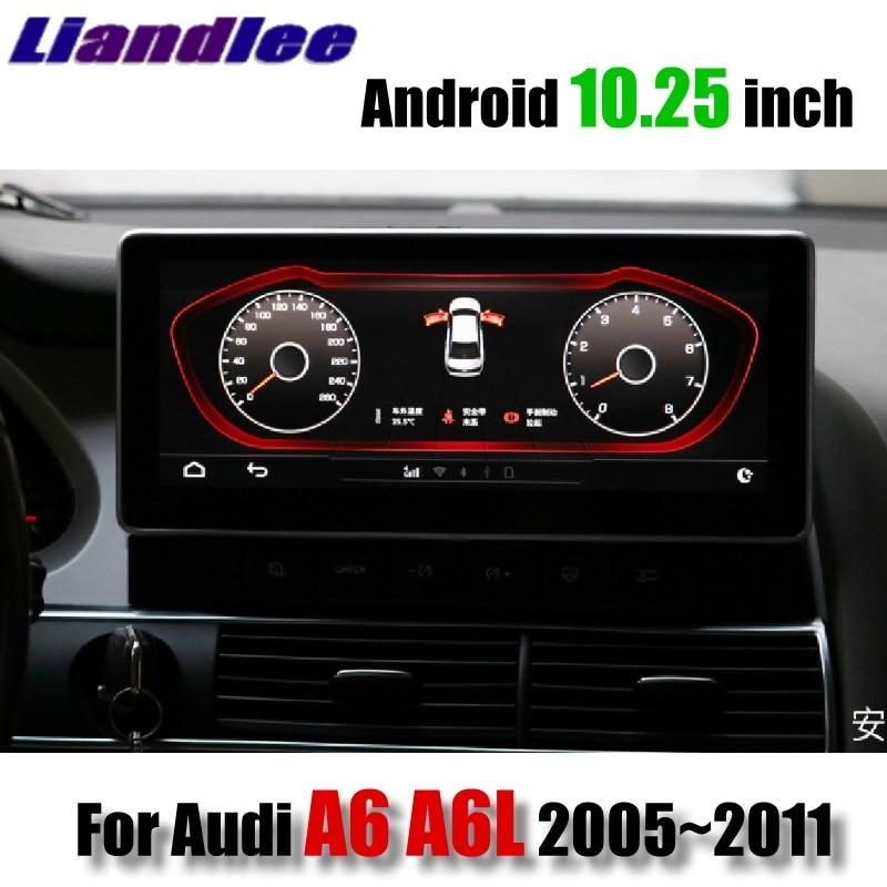 Liandlee автомобильный мультимедийный плеер NAVI для Audi A6 A6L 2005 ~ 2011 MMI 10,28 дюймов CarPlay адаптер 4G SIM Радио Стерео GPS навигация