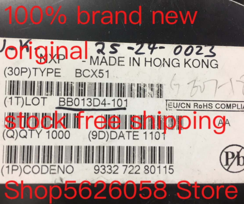 BCX51 SOT89 100% nuevo original 30 UDS-1000 uds/lote de STOCK