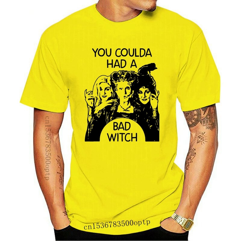 New You Coulda Had A Bad Witch Halloween Funny White T-Shirt Size S-3Xl Outfit Tee Shirt