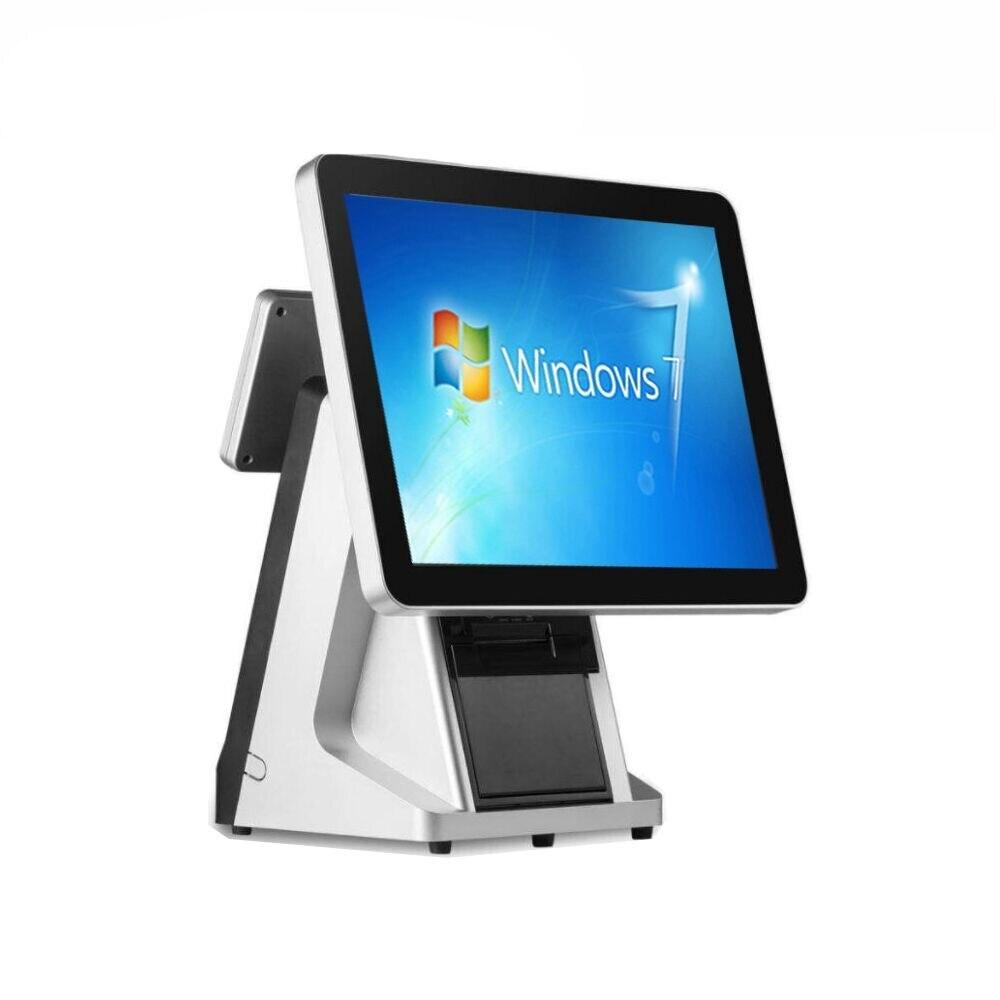 ماكينة تسجيل المدفوعات النقدية التجارية تعمل باللمس POS محطة pos أنظمة بالسعة شاشة تعمل باللمس نقطة بيع ويندوز