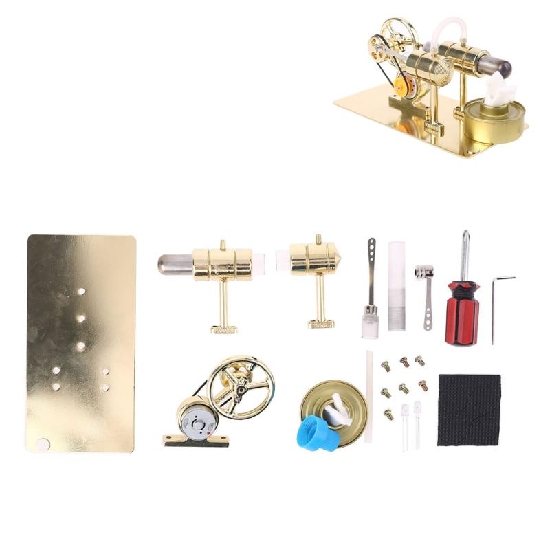 الهواء الساخن جميع المعادن ستيرلينغ محرك تجربة نموذج مولد الطاقة موتور التعليمية الفيزيائية البخار الطاقة لعبة تصميم الهدايا