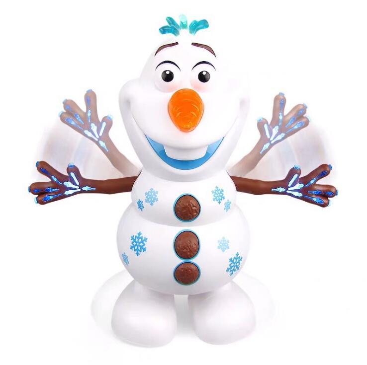 Экшн-фигурки Olaf из фильма, электрическая кукла Olaf, музыкальный светильник, ручная танцевальная машина, снеговик, рождественский подарок