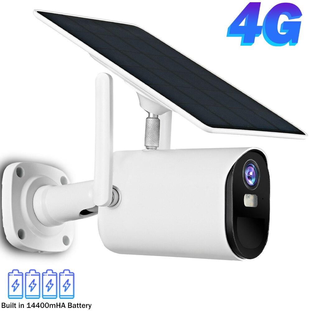 1080P واي فاي كاميرا IP في الهواء الطلق 4G سيم بطاقة كاميرا تلفزيونات الدوائر المغلقة الواح البطاريات الشمسية الطاقة الذكية كاميرا مراقبة للمنزل...