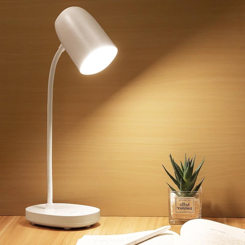 YAGE-مصباح مكتبي مع حماية للعين ، 3600 مللي أمبير ، بطارية قابلة لإعادة الشحن ، 3 أوضاع إضاءة ، USB ، ضوء ليلي للتعلم أو طاولة الدراسة