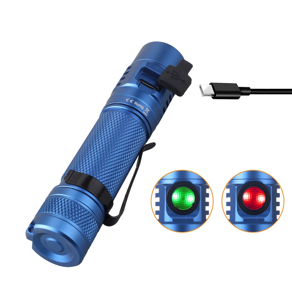 Sofirn SC31 Pro SST40 Powerful 2000LM LED Flashlight 18650 Torch USB C Rechargeable Anduril UI Blue Green Black Color enlarge